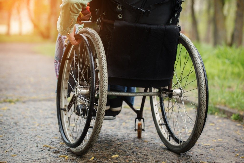 Person on a wheel chair