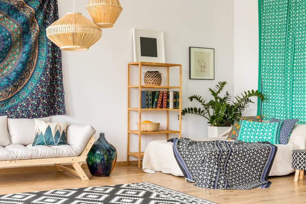 interior design with different patterns
