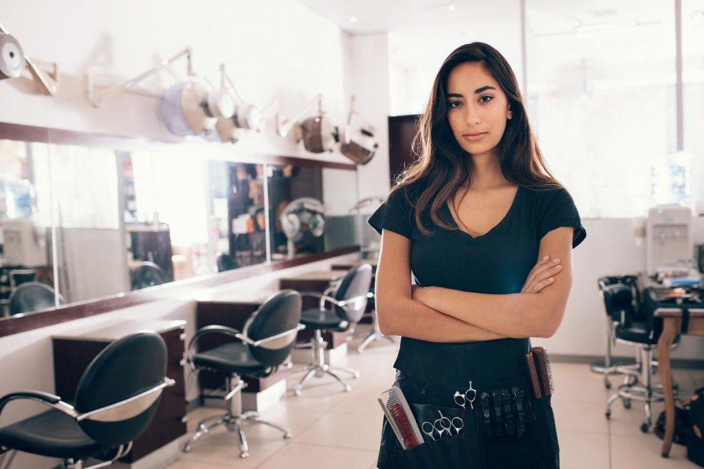 woman at a hair salon