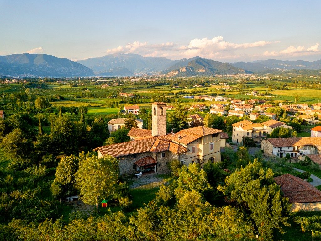 view of a village in Italy