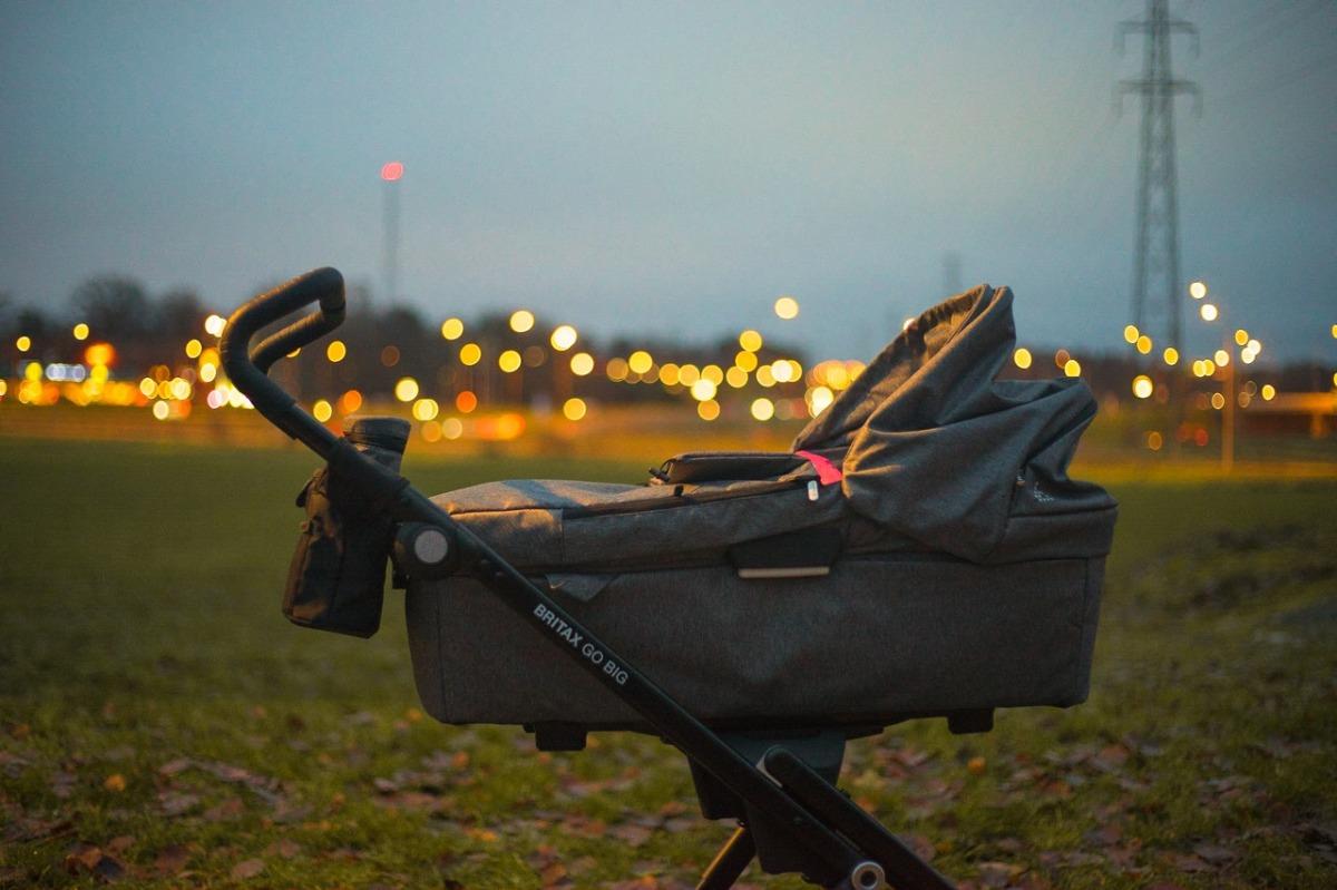 gray stroller